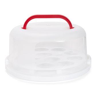 Boîte de transport pour gâteaux et cup cakes 30 cm réutilisable