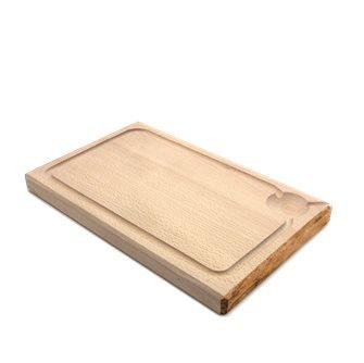 Planche à découper 35x22 cm d´une pièce avec rigole fabriquée en France