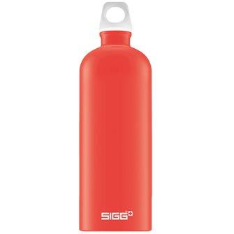 Bouteille réutilisable alu rouge clair 1 l légère Lucid Scarlet Touch Sigg