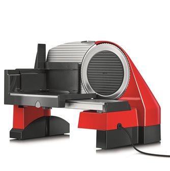 Trancheuse électrique 170 mm métal rouge coupe 30 mm avec coupe légumes