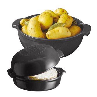 Kit diable à pomme de terre et four à fromage Cheese Baker gris anthracite Fusain Emile Henry