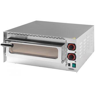 Four à pizza pro inox électrique 2 kW 400°C 2 thermostats