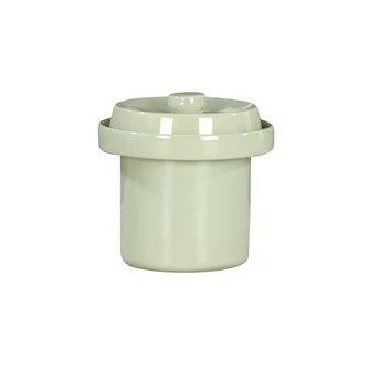 Pot à choucroute / lactofermentation 1 litres couleur vert d´eau